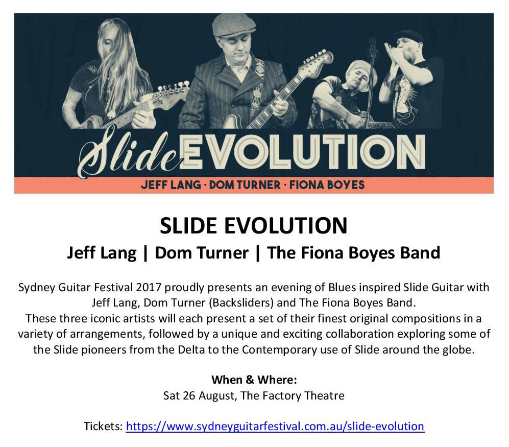 Sydney Guitar Festival Flier